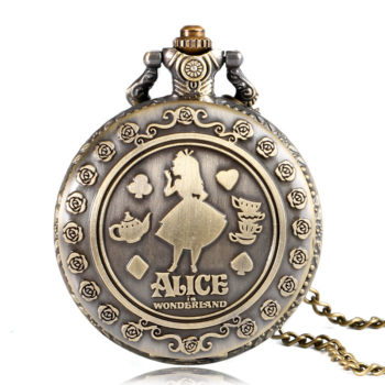 Alice in Wonderland Quartz Pocket Watche