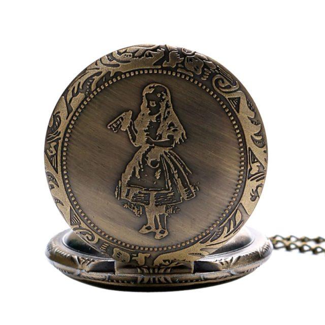 Alice in Wonderland Quartz Pocket Watche