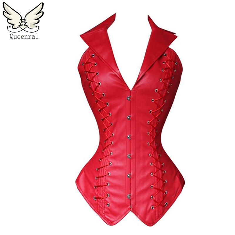 Leather Steampunk corset waist trainer
