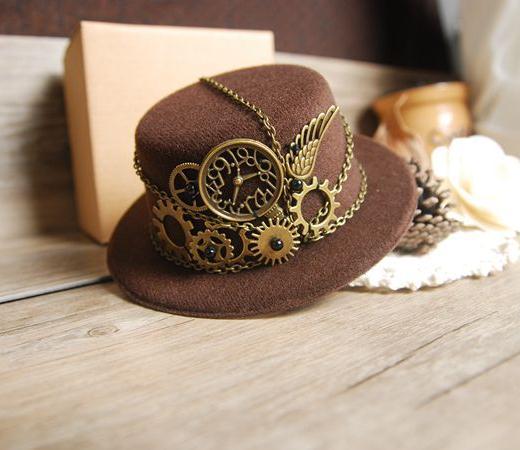 Steampunk Gear Mini Top Hat Handmade
