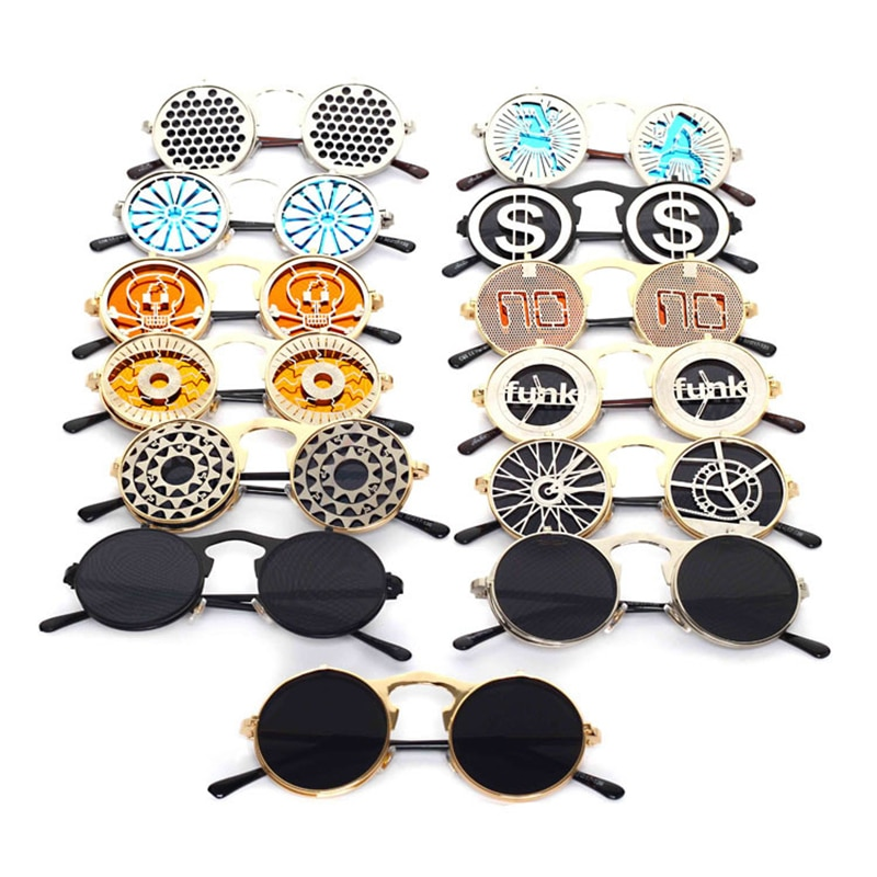 Steampunk Clam shell Sunglasses