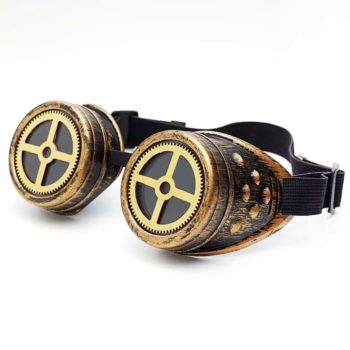 Clear Lense Steampunk Googles