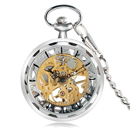 Steampunk Mechanical Hand Winding Classic Copper Pendant Pocket Watch