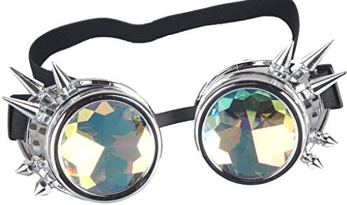 Cyber Goggles Steampunk Welding Goth Cosplay Vintage Goggles Rustic