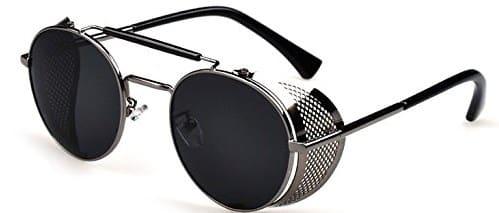 Steampunk Round Glasses-Designer Metal