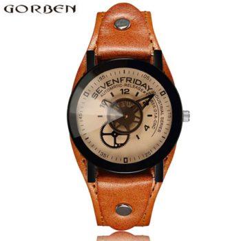 Unique Design Industrial Gear Dial steampunk Watch