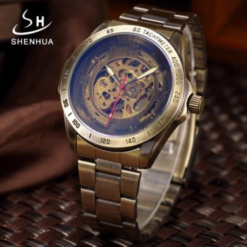 Steel Waterproof Steampunk Wrist Watch