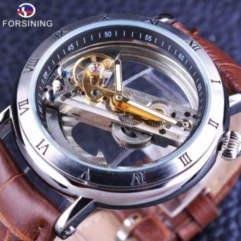 Silver Steel Waterproof Steampunk Wrist Watch