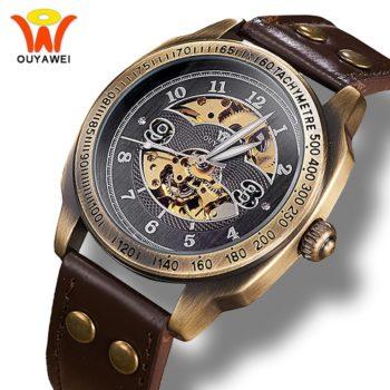 Steampunk Automatic Skeleton Wrist Watch