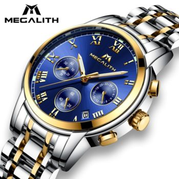 MEGALITH Watch Stainless Steel Analogue Wrist Watch