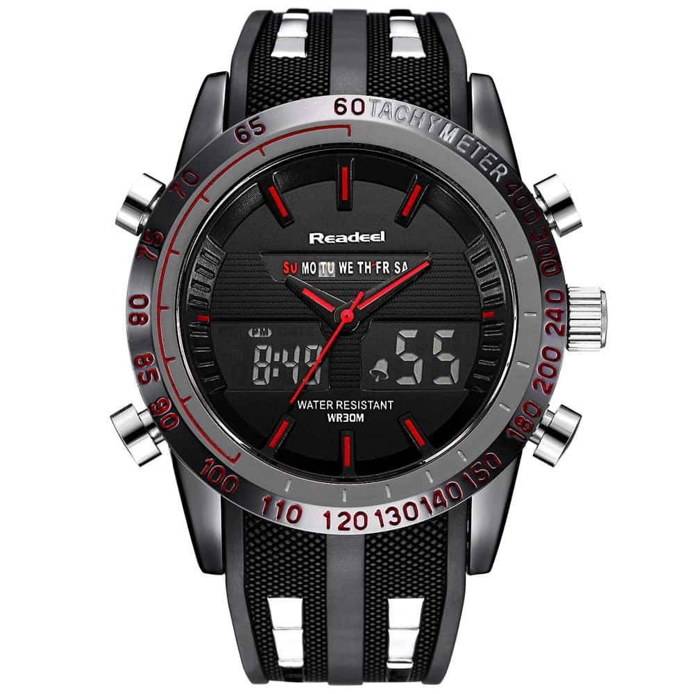 Digital Quartz Sports Watch Waterproof