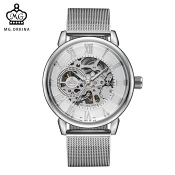 Skeleton Dial Hand-wind Wrist Watches