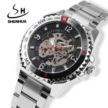 Relogio Skeleton Automatic Watch
