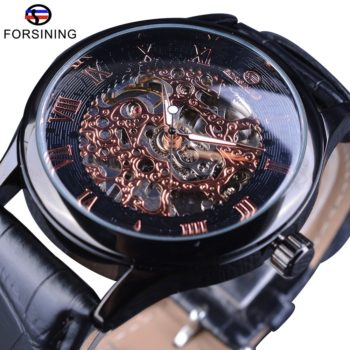 Roman Classic Flower Skeleton Mechanical Watches
