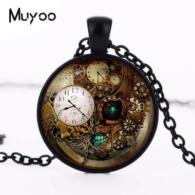 black color pocket watch