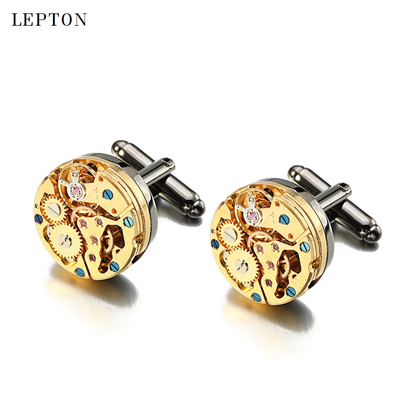 Hot-Watch-Movement-Cufflinks-for-immovable-Stainless-Steel-Steampunk-Gear-Watch-Mechanism-Cuff-links-for-Mens