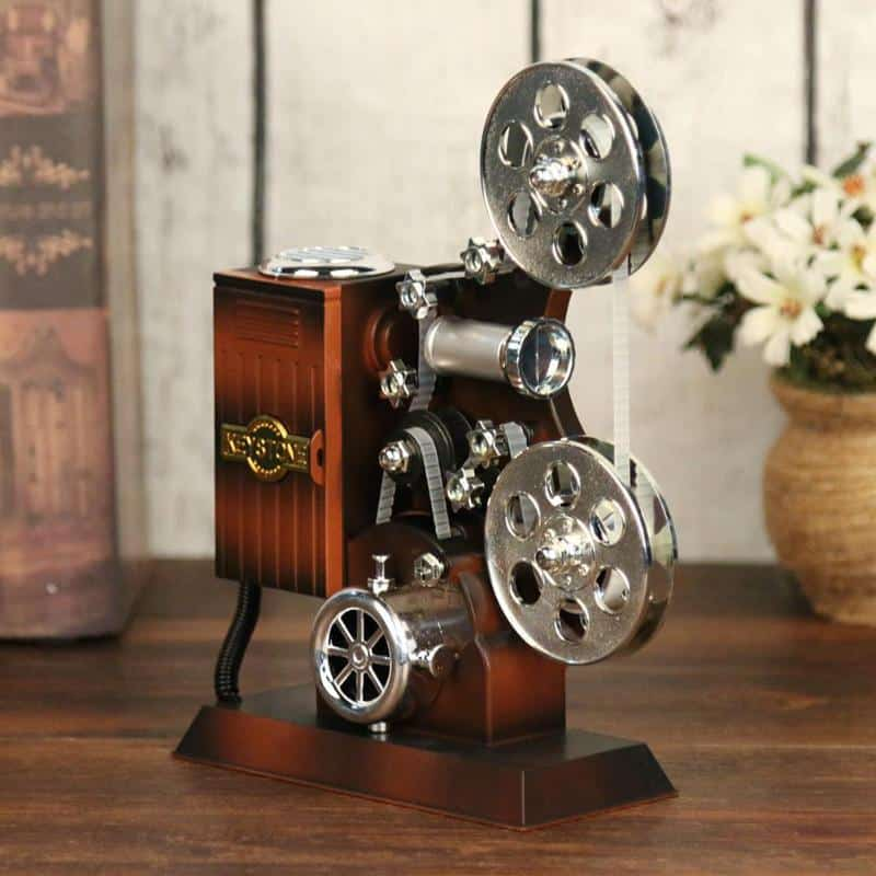 Vintage Film Projector With Music Box