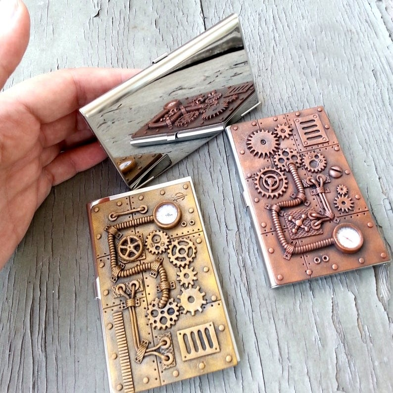 two business card holders