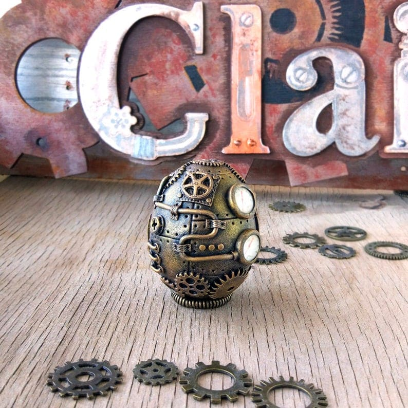 steampunk egg easter