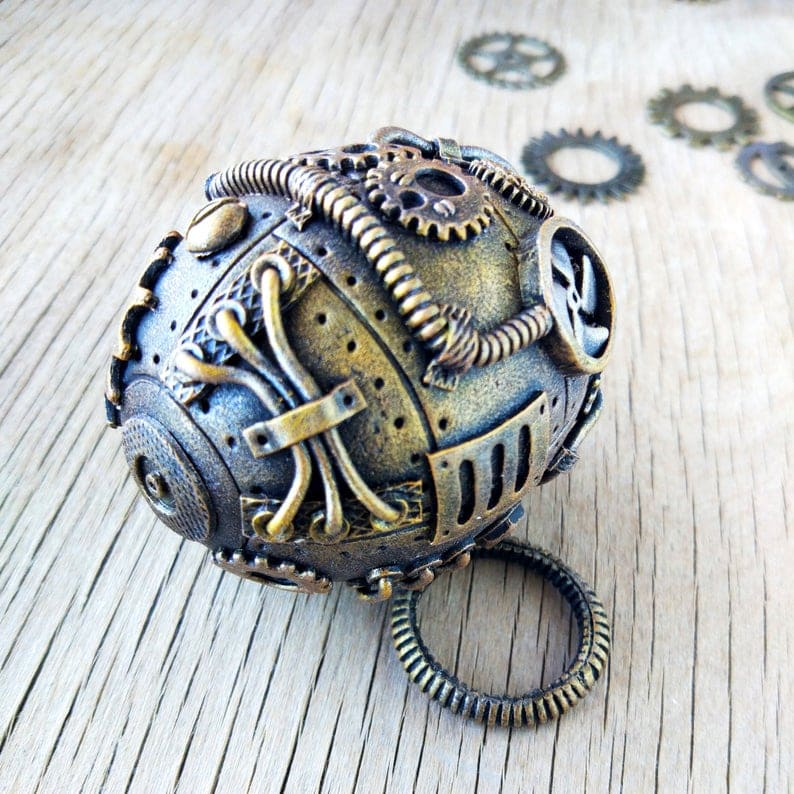 steampunk twin color egg