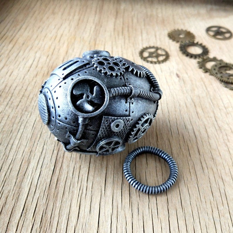 steampunk egg black