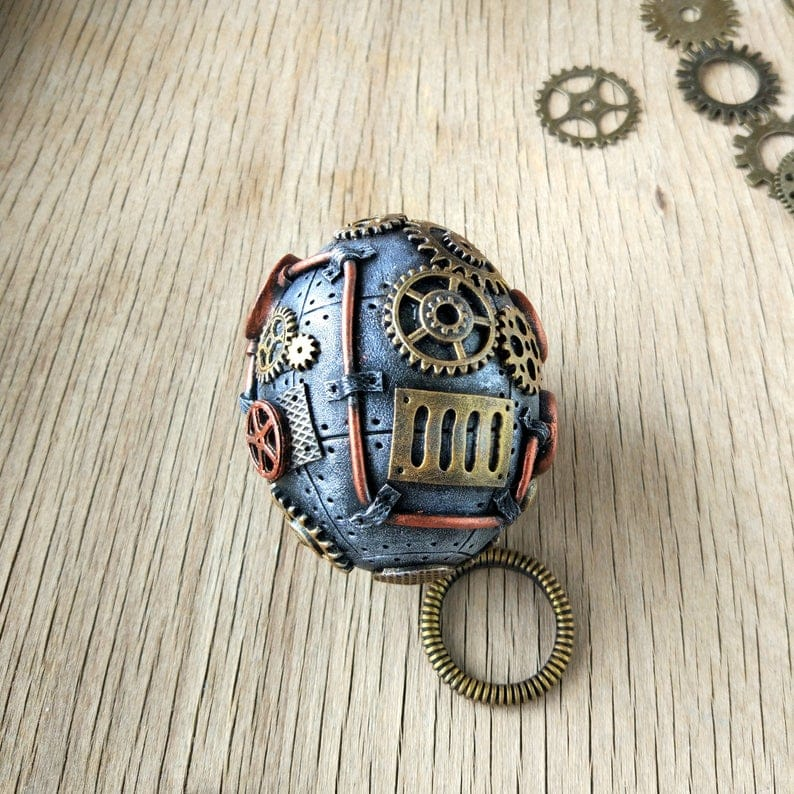 steampunk easter egg vintage