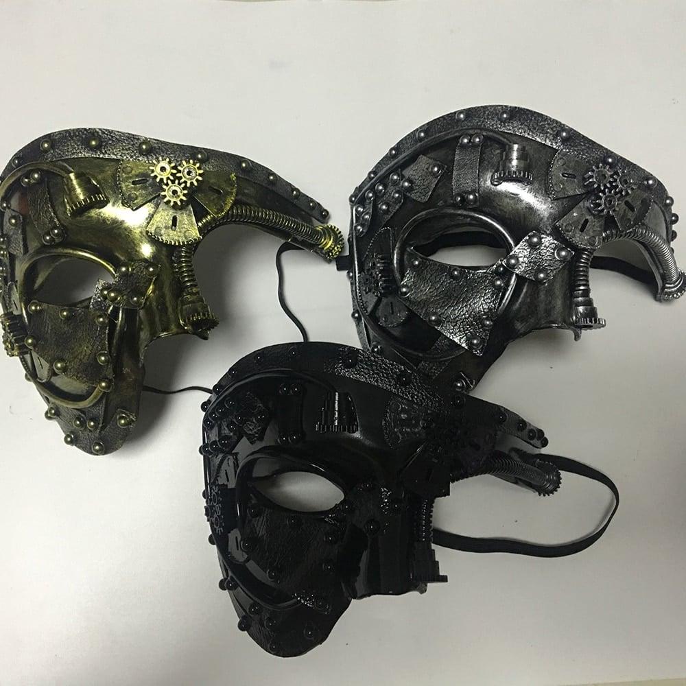 three steampunk masquerade cosplay mask