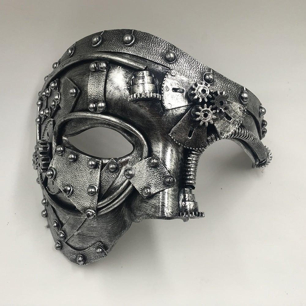 Masquerade Cosplay Mask silver