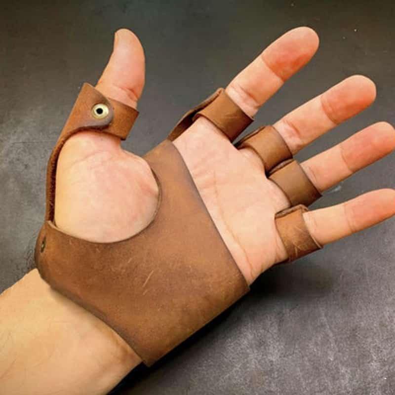 Beautiful hand with glove