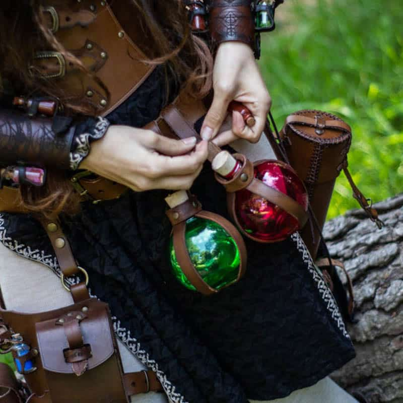 steampunk alchemist flask potion Bottles