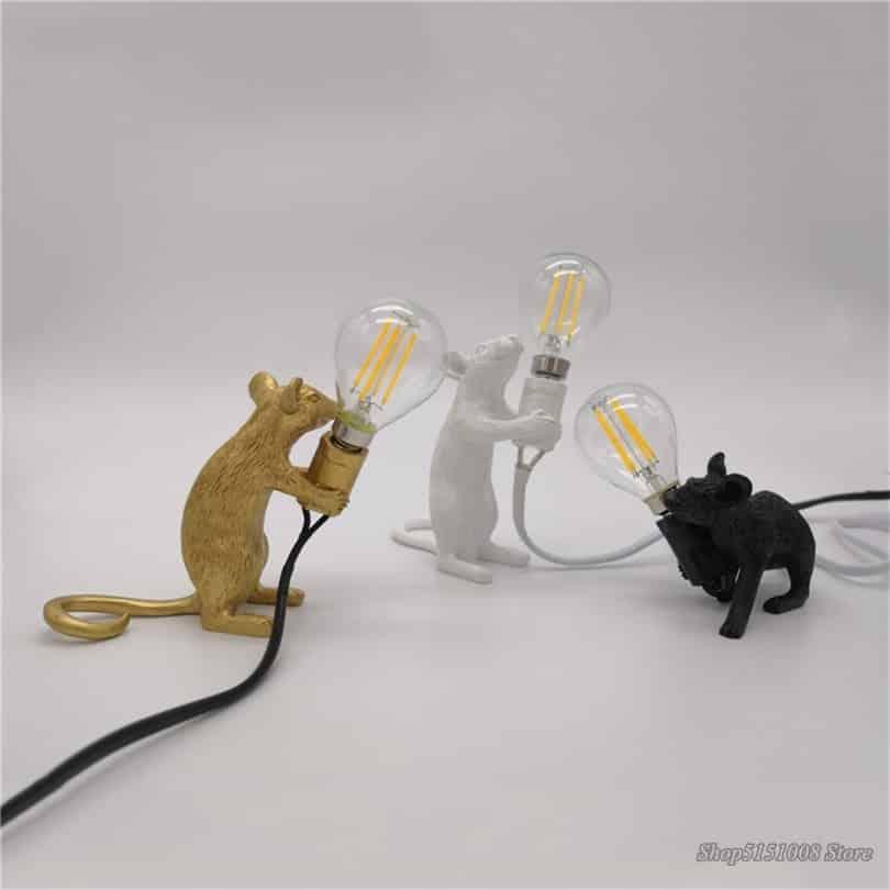 steampunk 3 rat table lamp
