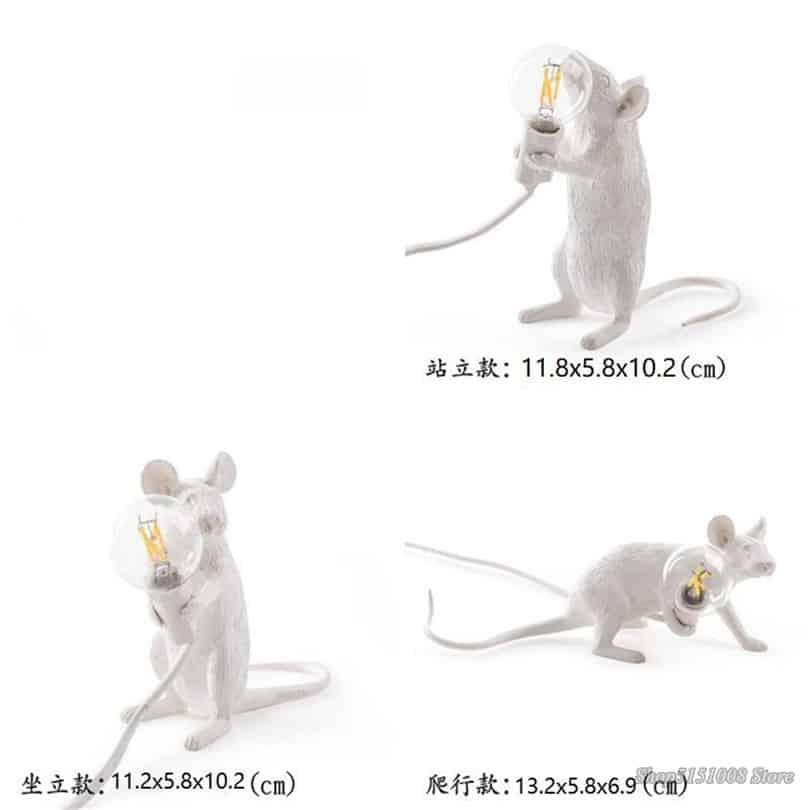 steampunk Rat lamp size guide