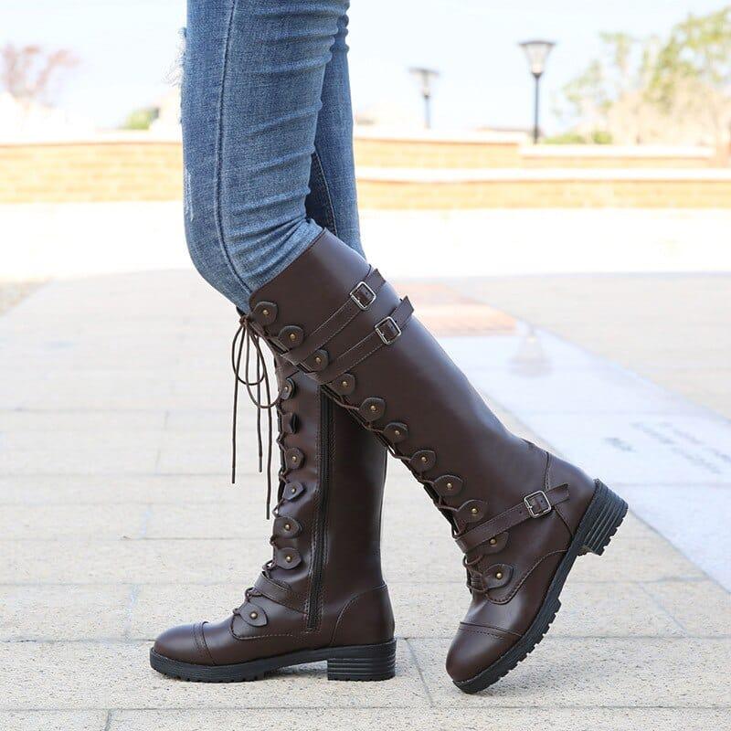steampunk Women Kneehighs boots