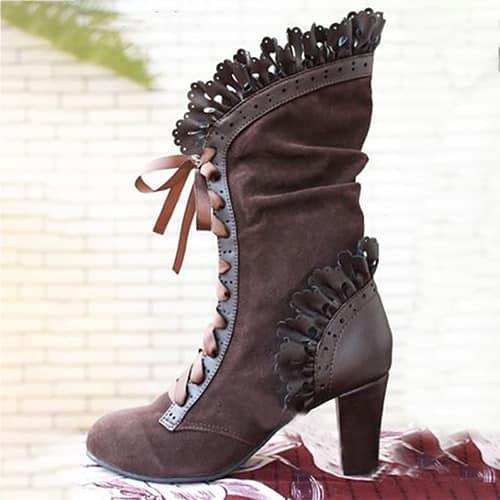 steampunk Victorian High heels boots