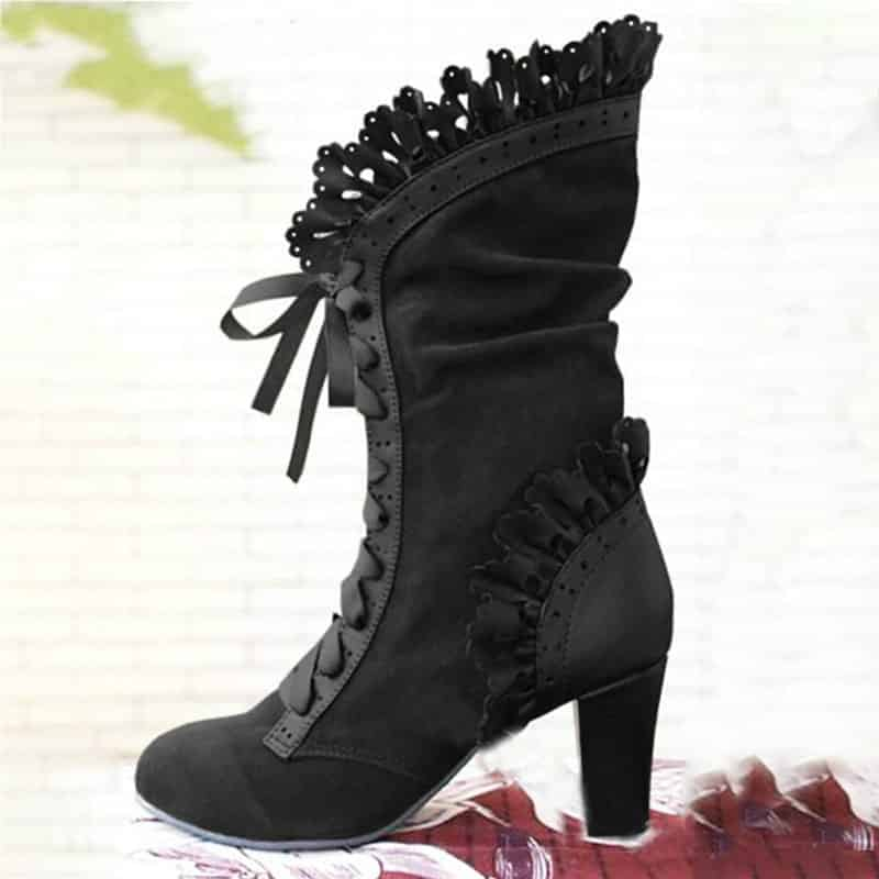 steampunk Beautiful Victorian High Heel boots