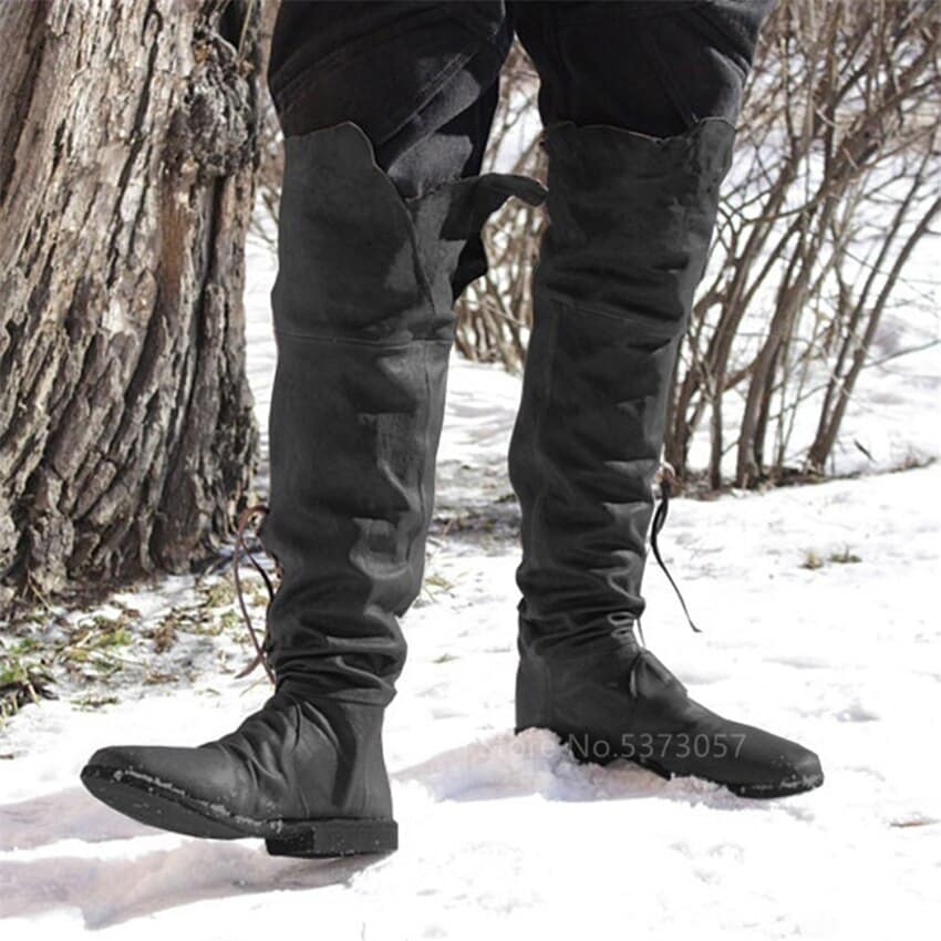 steampunk Long Pirate Boots