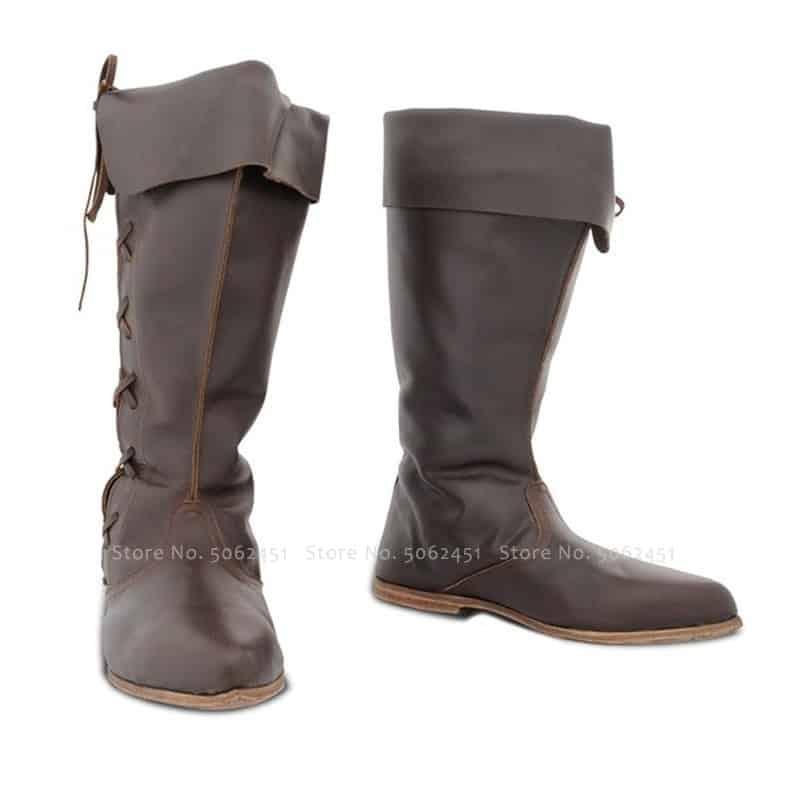 steampunk Medieval British Boots