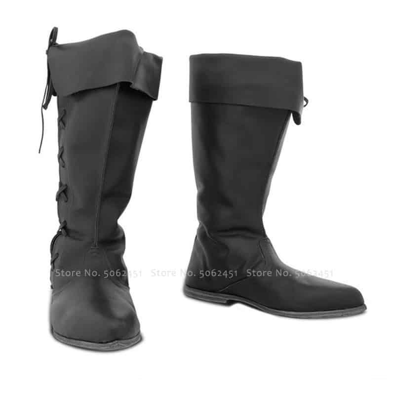 steampunk Black British Style Boots