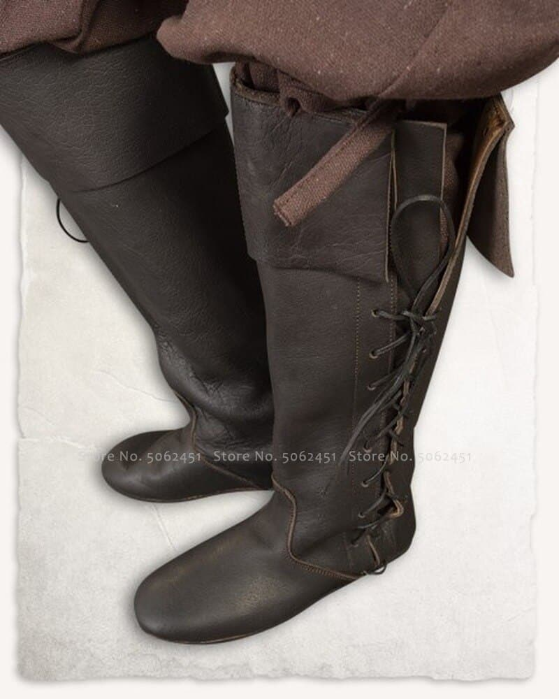 steampunk British leather Boots