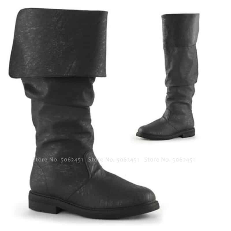 steampunk Stylish Medieval British Boots
