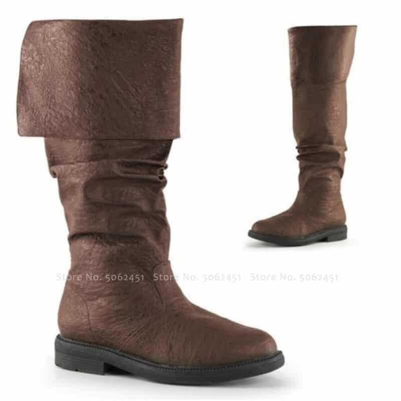 steampunk British Style Brown Boots