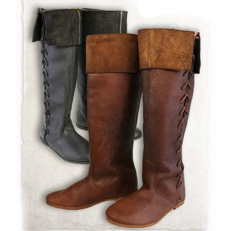 steampunk PU leather boots
