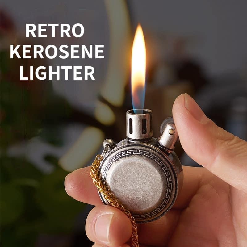 Mini pocket watch style steampunk Kerosene Lighter