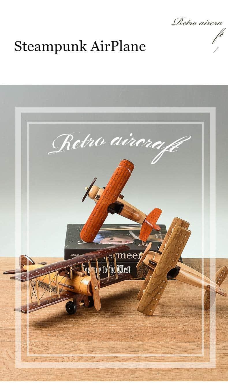 Retro Wooden WWll Airplane Model